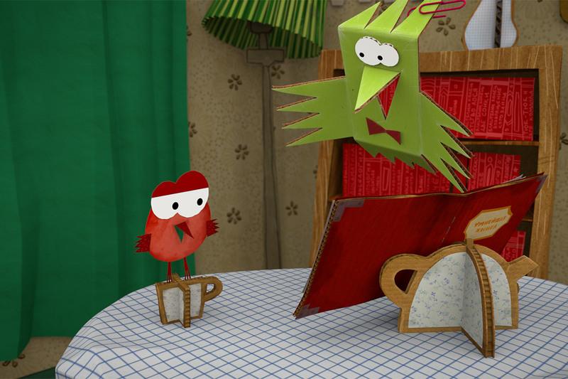 Бумажки поделки из мультфильма